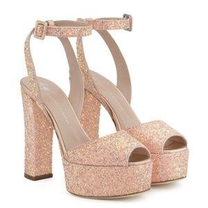 Giuseppe Zannoti Betty Pink Glitter Platform